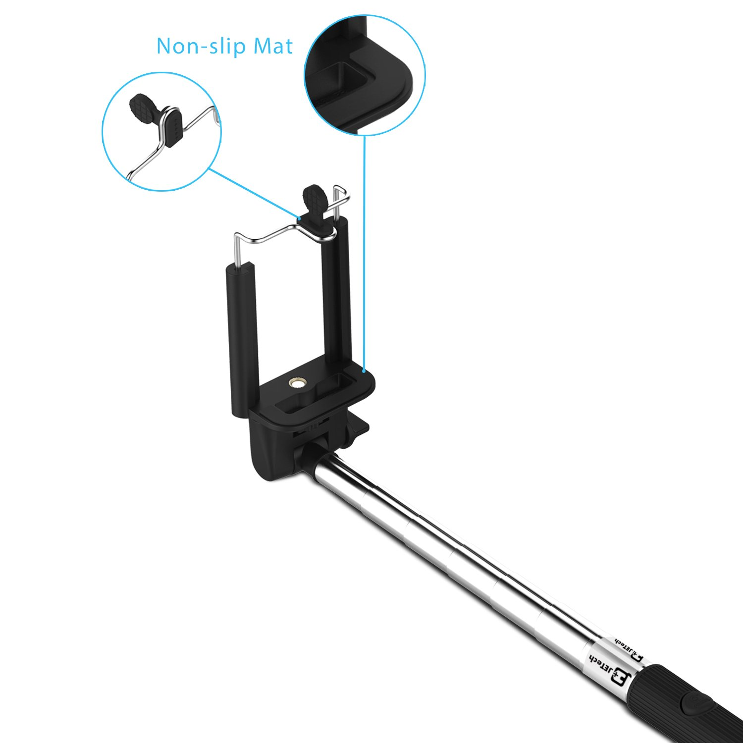 selfie stick jetech bluetooth self portrait monopod extendable wireless selfie ebay. Black Bedroom Furniture Sets. Home Design Ideas