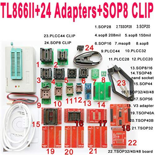 NANAO TL866II Plus USB Programmer 24 Adapter Socket SOP8 Clip 1 8V nand  Flash 24 93 25 mcu Bios EPROM AVR eprom