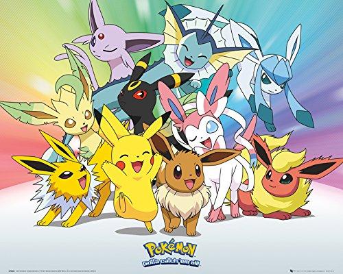 GB-Eye-LTD-Pokemon-Eve-Mini-Poster-40-x-50-cm