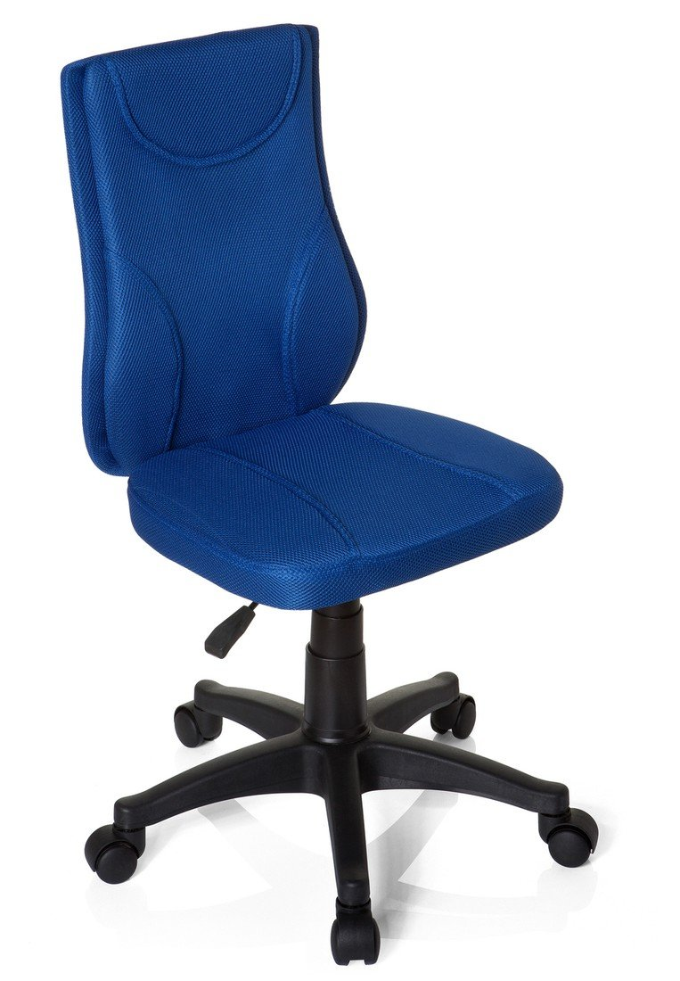 hjh OFFICE 670420 KIDDY BASE Silla para niños y silla giratoria, tejido en malla rojo