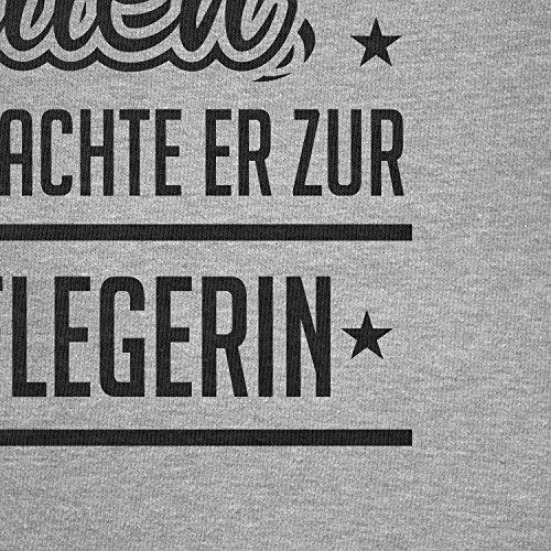 TEXLAB - Altenpflegerin - Herren Langarm T-Shirt Grau Meliert