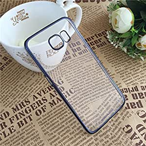 Meephone Noble Series Transparent Back Case for Samsung Galaxy S6 Edge - Golden Lining
