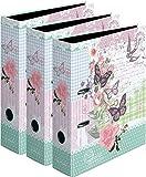 3 Stück Herlitz Ordner A4 Ladylike Serie maX.file, 8 cm | Ladylike Butterfly