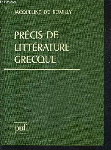 Precis De Litterature Grecque [Pdf/ePub] eBook