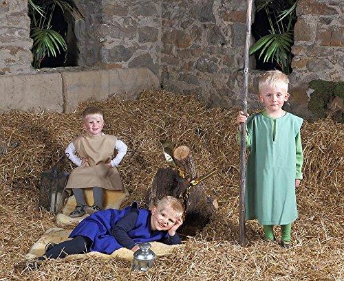 Betzold Hirten-Kostüm, 3er-Set, passend für Kinder im Alter von 4 - 7 Jahren - Kostüme Krippenspiel Kindergarten Krippe Advent Weihnachten Kinderkostüme Überziehkostüme