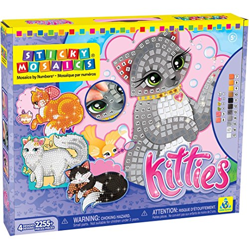 Orb Factory 73053 - Sticky Mosaics Kitties, Lern und (Elfen Pixel Kit)
