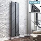 1600 x 480 mm Vertical Column Radiator Anthracite Flat Panel | Original - iBathUK premium radiator