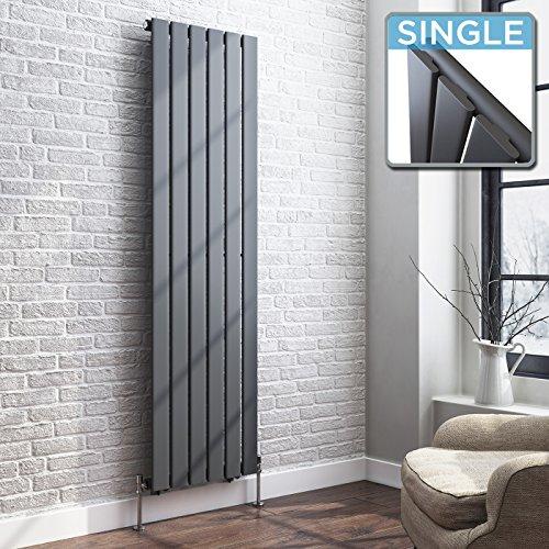IBathUK 1600 X 480 Vertical Column Designer Radiator Anthracite Single Flat  Panel