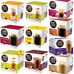 Choose Nescafe Dolce Gusto Coffee Capsules Pods Full Range Over 30 Flavours 8-16 P/pack - Nescafe