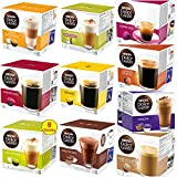 NESCAFE DOLCE GUSTO COFFEE CAPSULES PODS BESTSELLING 10 FLAVOURS 8-16 P/PACK