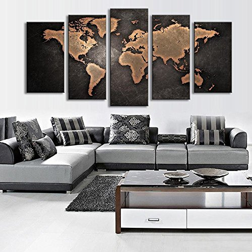 999store multiple frames wall for living room wall art panels with 999store multiple frames wall for living room wall art panels with frame printed world map painting framed amazon home kitchen gumiabroncs Choice Image