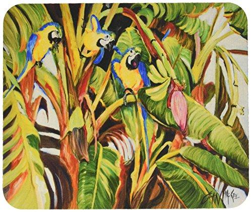 Caroline's Treasures (JMK1010MP) Mauspad mit drei blauen Papageien -