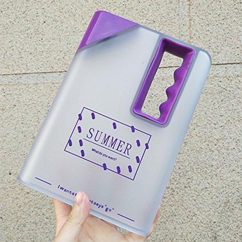 Wasserflasche klares Buch tragbare Papierauflage Wasserflasche flach trinkt Wasserkocher Küche Haushalt Wohnen Geschirr Besteck Gläser