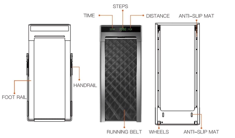 61ZZg7gZaRL - Slim Tread Ultra Thin Smart Treadmill Running Machine Portable