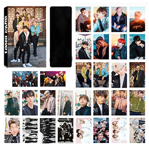 Kingmia BTS Poster BTS Postkarte BTS Krop Rap Monster,Jung Kook Jimin, V, Suga Jin J Hope Poster Mini Fotokarten Set Geschenk für die ARMY