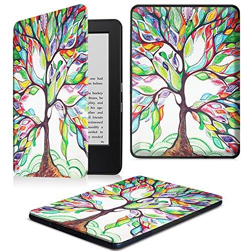 Fintie Étui Kindle 6 pouces 7ème Génération - Coque étui Housse Flip en cuir super fin et léger, fermeture magnétique avec mise en veille automatique pour Amazon Kindle (7ème génération - modèle 2014) Z -Love Tree