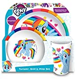 My Little Pony Tumbler, Bowl, Plate Set, 3 piece, Multi-colour