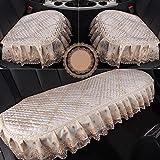 A Neue Vier Jahreszeiten Universal Lace Autositz gehobenen Stoff Sitz, B, beige