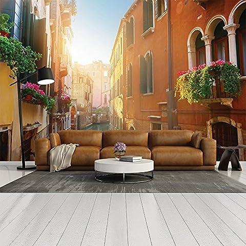Calle de Venecia y vistas al canal escénico de la ciudad italiana de pared la foto del viaje del papel pintado disponible en 8 tamaños Gigantesco Digital