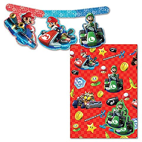 Super Mario Kart Card Banner and Wrap Pack