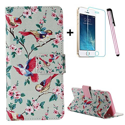 iphone-se-caseiphone-5s-flip-wallet-casetebeyy-premium-colorful-bird-and-floral-pu-leather-wallet-ca