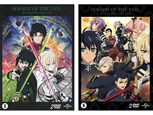 Preisvergleich Produktbild Seraph of the End - Staffel 1 : Vampire Reign + Battle in Nagoya - Vol. 1 + 2 (Ep. 01-24) (4 DVD) (EU Import mit Deutscher Sprache)