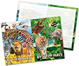 Folat Einladungskarten Safari Party, 8 Stück
