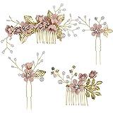 Toyvian 4 piezas peine para el cabello conjunto moda nupcial accesorios para el cabello de la boda tocado para dama de honor