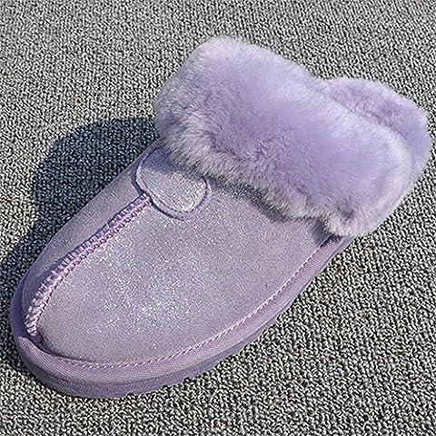 TDXIE Coppie a baotou, Australian pelliccia della peluche pantofole scarpe pantofole casa 35 36 37 38 39 40 41 42 43 44 , a , 43