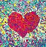 DIY 5d Diamant Peinture par numéro Kits, géométrique Cœur Rouge complète perceuse Strass à broder au point de croix photos Arts Craft pour Home Décoration murale, 30x 30cm