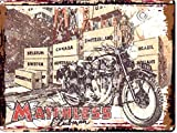 MATCHLESS CLUBMAN GARAGE METAL SIGN RETRO VINTAGE STYLE LARGE 12X16in 30x40cm MOTOR BIKE MOTORCYCLE