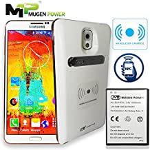 Mugen Power - Samsung Galaxy Note 3 N9005 Batería Super Extended 6500mAh con cubierta trasera (Compatible con NFC y Carga Inalámbrica) (Blanco)