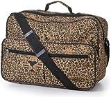 Worlds Lightest Cabin Size Flight Bag, weight 0.4Kg, dimension 42cm x 29cm x 16cm - Fits Ryanair/Easyjet (Leopard Face)
