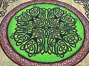 Bohême-Noeud Celtique-lit en coton Motif indien mur canapé/couvre-lit