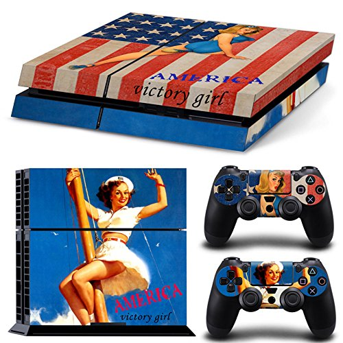 Force Sexy Air (GameCheers Xbox One Konsole and 2 Controllers Skin Set - USA Flag US AirForce - XboxOne Vinyl)