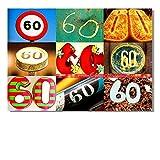 DigitalOase Glückwunschkarte 60. Geburtstag Jubiläumskarte 60. Jubiläum Geburtstagskarte Grußkarte Format DIN A4 A3 Klappkarte PanoramaUmschlag #LETTERS
