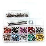 Amacoam Set met oogjes, metalen oogjes, voor kleding, handwerk, 500 stuks, 5 mm, oogjes, ringen, gereedschapsset, oogdanzer,