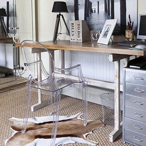 confronta il prezzo Spirit trasparente Ghost sedia per sala da pranzo, poltrona design moderno stile Louis Kartell Philippe Starck, set di 2 sedie (KRISTAL) miglior prezzo