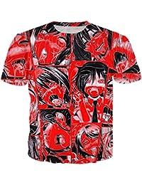 Mayelu Anime Ahegao Unisex Gracioso Tímida Niña Sexy Tops Tees Harajuku Rostro Rojo 3D T-Shirt c0FMaCccQ