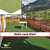 MadeInNature® Rasenteppich Kunstrasen, Größe Auswählen | Außen Teppich | Für Garten, Terrasse, Balkon etc (400 x 200 cm)
