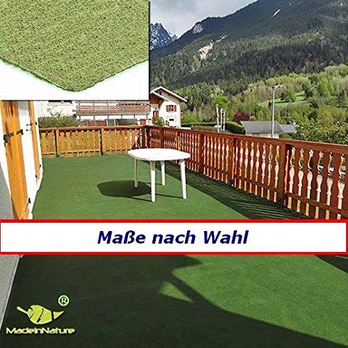MadeInNature® Rasenteppich Kunstrasen, Größe Auswählen   Außen Teppich   Für Garten, Terrasse, Balkon etc (150 x 200 cm)