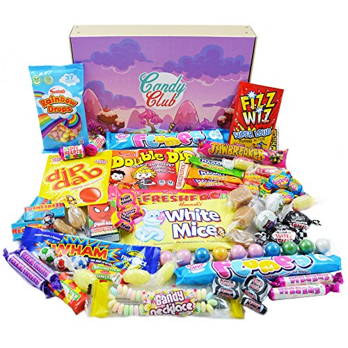 Retro Sweets Gift Box. Candy Club Sweets Hamper,