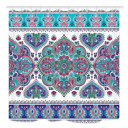 Edcott bohemian paisley mosaic art pattern carta da parati in stile vittoriano bohémien camera modello casa facile da pulire per il bagno bagno tende dell'hotel