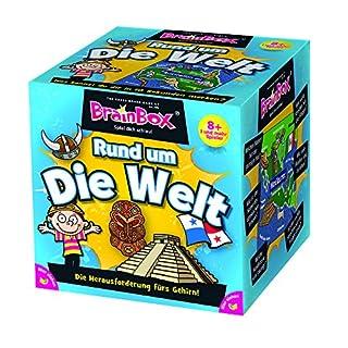 BRAIN BOX 94901 - Lernspiel - Rund Um die Welt, Spiel Dich Schlau - ab 1 Spieler, Dauer Circa 10 Minuten