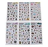 DIY Handbook Stickers Nette Aufkleber Aufkleber-Set von 6 / Trip
