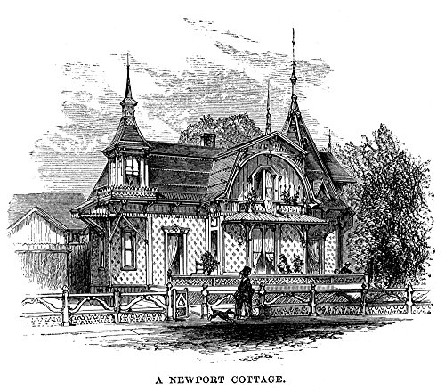 The Poster Corp Newport Cottage. /Ncottage at Newport Rhode Island. Wood Engraving 1875. Kunstdruck (45,72 x 60,96 cm) -