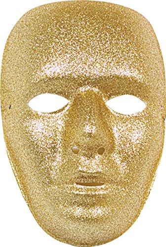 Kostüm Sekte - Ciao-Set 6Masken, Gesicht Glitter, Gold