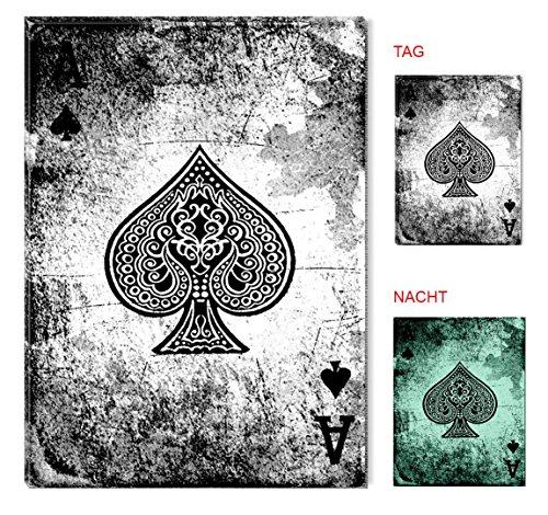 Startonight Leinwand Wand Kunst Poker Ace von Pica, Doppelansicht Überraschung Modernes Dekor Kunstwerk Gerahmte Wand Kunst 100% Ursprüngliche Fertig zum Aufhängen 60 x 90 CM