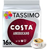 Tassimo Costa Americano Coffee Pods (Pack of 5, Total of 80 Coffee Capsules)