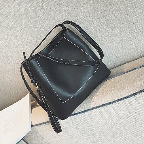 Sprnb La Nuova Primavera Ed Estate Moda Tutti-Match Borsa Borse Crossbody Bag,Nero Black